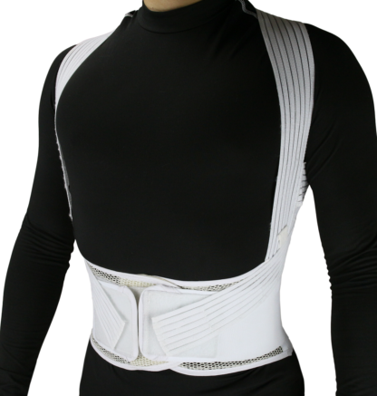 Back Brace Posture Corrector Wrap for Men and Women, Lower back and Lumbar Support Belt with Shoulder Straps