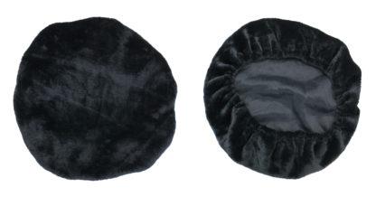 Fleece Cover for Adjustable Mesh Lumbar Support- Black