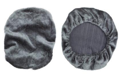 Fleece Cover for Adjustable Mesh Lumbar Support-Gray