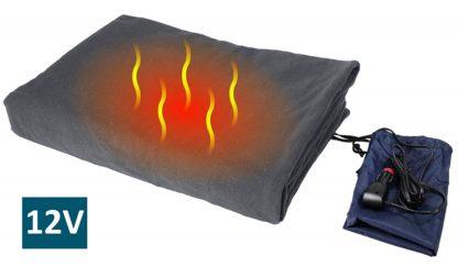 Luxurious Comfy Polar Fleece Heated Travel Car Blanket