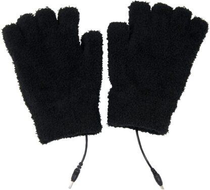 USB 5V Composite Heating Element Warming Half Finger Stretchy Gloves