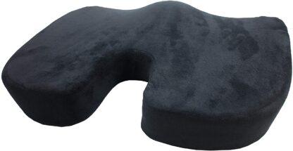 Cool Gel Memory Foam Cushion U-Shaped Cut-Out Orthopedic Coccyx/Tailbone Seat Cushion for Back Pain, Sciatica Relief, Better Posture